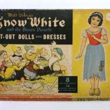 1938 Snow White Cut-Out Dolls & Dresses Play Set - ID: jundisneyana21361 Disneyana