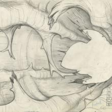 Secret of NIMH Background Layout Drawing - ID: junnimh21414 Don Bluth