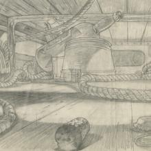 An American Tail Background Layout Drawing - ID: maramerican21066 Don Bluth