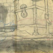 Banjo the Woodpile Cat Background Layout Drawing - ID: marbanjo21060 Don Bluth