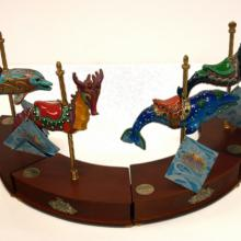 King Triton's Carousel Musical Figurine Set - ID: mardisneyana21007 Disneyana