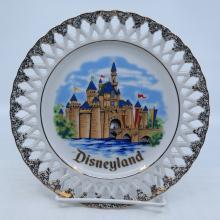 Disneyland Sleeping Beauty Castle Lace Plate - ID: mardisneyana21302 Disneyana