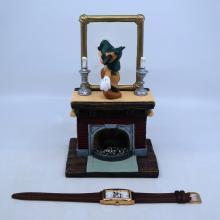 Mickey's Mirror of Clues Mystery Figurine & Watch - ID: mardisneyana21316 Disneyana
