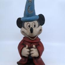 Sorcerer Mickey Wood-Look Figurine - ID: mardisneyana21320 Disneyana