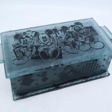 Mickey Mouse Glass Trinket Box - ID: mardisneyana21322 Disneyana