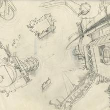 Space Ace Background Layout Drawing - ID: marspaceace21094 Don Bluth