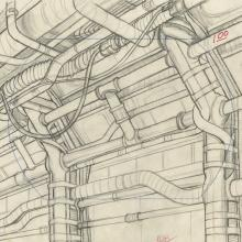 Space Ace Background Layout Drawing - ID: marspaceace21108 Don Bluth