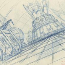 Space Ace Background Layout Drawing - ID: marspaceace21110 Don Bluth