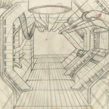 Space Ace Background Layout Drawing - ID: marspaceace21112 Don Bluth