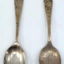 Mickey Mouse Pair of Vintage Spoons - ID: novdisneyana20003 Disneyana