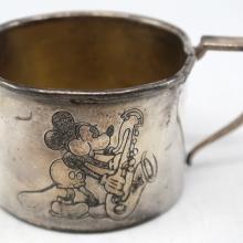 Mickey Mouse Vintage Metal Cup - ID: novdisneyana20004 Disneyana