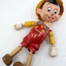 Pinocchio Doll with Hat & Tie by Ideal - ID: novdisneyana20017 Disneyana