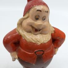 Happy Seiberling Rubber Figurine - ID: novdisneyana20023 Disneyana