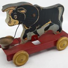 Ferdinand 1939 Wood Pull Toy - ID: novdisneyana20032 Disneyana