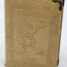 Mickey Mouse 1930s Book Coin Bank - ID: novdisneyana20037 Disneyana