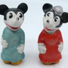 Mickey and Minnie Ceramic Figurine Set - ID: novdisneyana20055 Disneyana