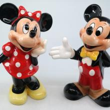 Mickey and Minnie Ceramic Figurine Set - ID: novdisneyana20067 Disneyana