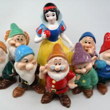 Snow White and the Seven Dwarfs 8-Piece Figurine Set - ID: novdisneyana20068 Disneyana