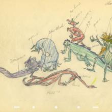 Fantasia Night on Bald Mountain Demons Production Drawing - ID: sepfantasia21028 Walt Disney