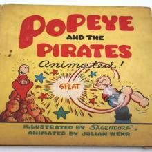 Popeye and the Pirates Animated Children's Book  - ID: septpopeye20346 Fleischer