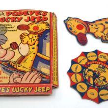 Ask Popeye's Lucky Jeep Vintage Game  - ID: septpopeye20347 Fleischer