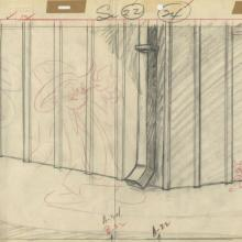 Posse Cat Tom and Jerry Layout Drawing - ID: septtomjerry2992 MGM
