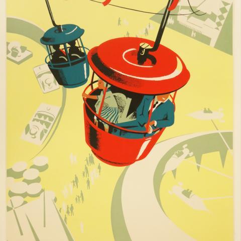 Skyway Disneyland Attraction Poster - ID: mardisneyland19254 Disneyana