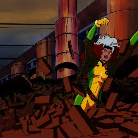 X-Men Production Cel & Background - ID: junxmen022 Marvel