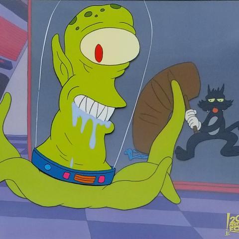 Simpsons Treehouse of Horror Production Cel - ID: marsimpson20058 Fox